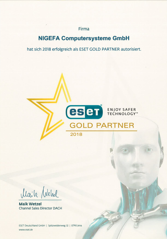 Eset Gold Partner 2018