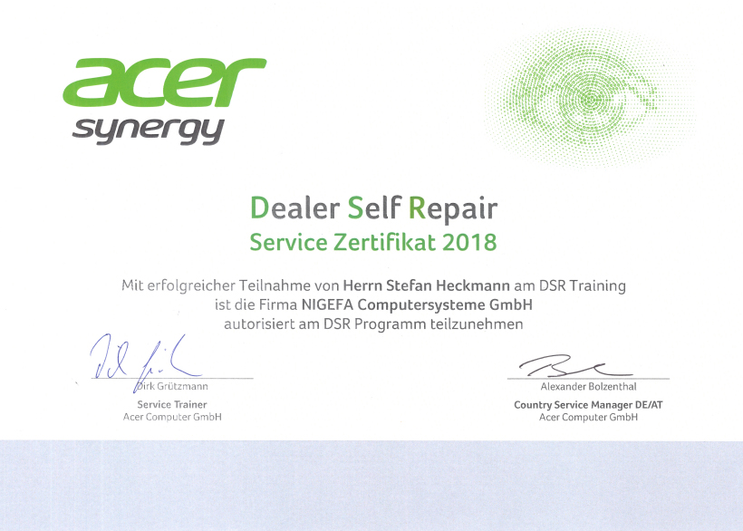 acer dealer self repair2018