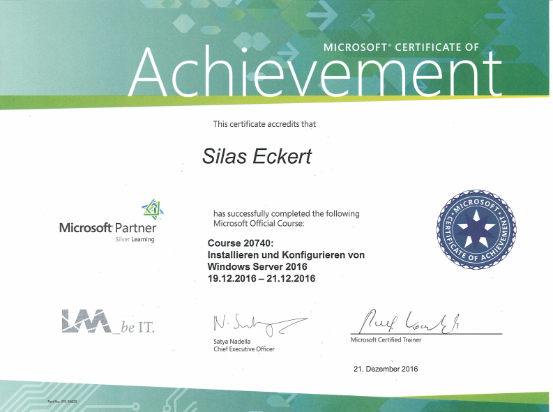 microsoft achievement